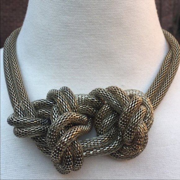 H&M Gold Knotted Necklace